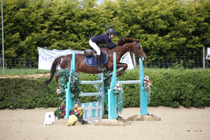 Rachel Proudley takes the top spot in the Blue Chip Pony Newcomers Second Round at Keysoe Equestrian Centre