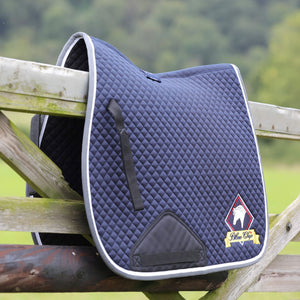 NEW Blue Chip GP Saddlecloth - Navy with Grey/White trim
