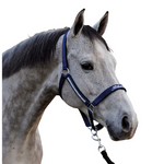 Blue Chip pony headcollar - Navy with pearl detail