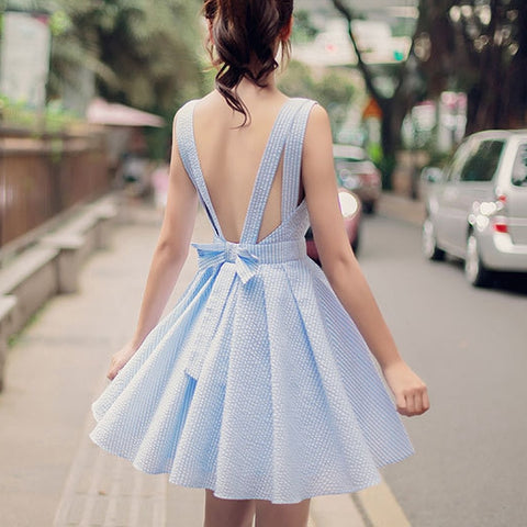 Cute v neck short dress,  summer dress, party dress