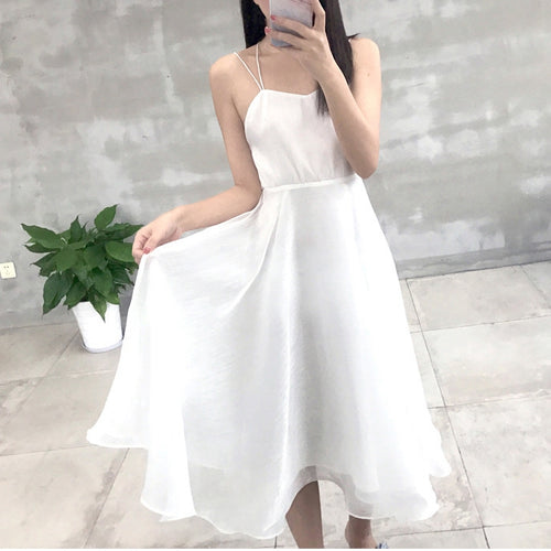 Cute backless chiffon short fashion dress, summer dress