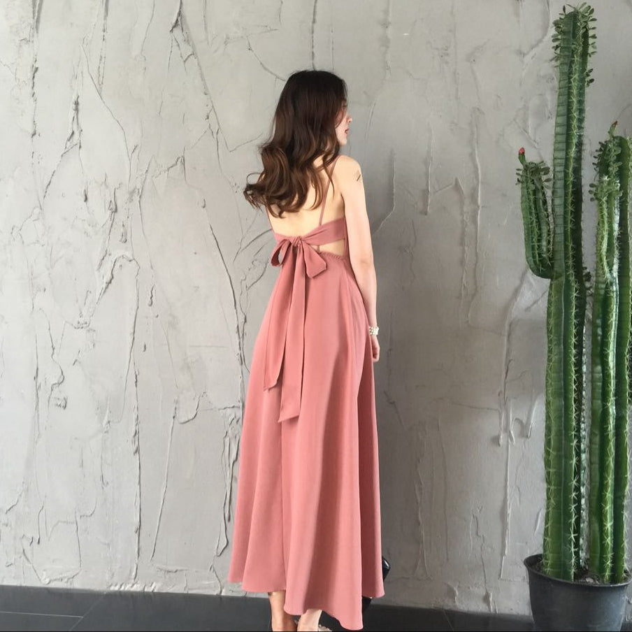 Cute chiffon v neck dress