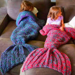 Comfortable handmade mermaid tail blanket, mermaid blanket