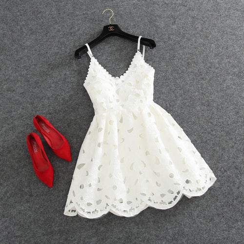 Cute lace v neck short prom dress, party dress