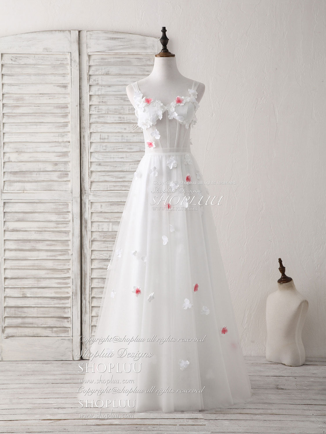 Unique white sweetheart tulle long prom dress white evening dress ...