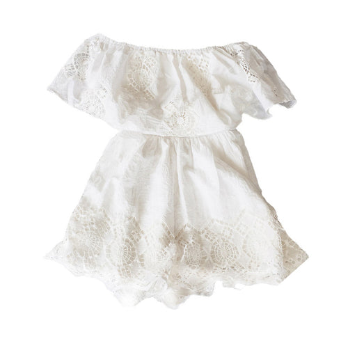 Stylish white lace rompers, rompers