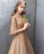 Unique tulle lace long prom dress, tulle lace evening dress