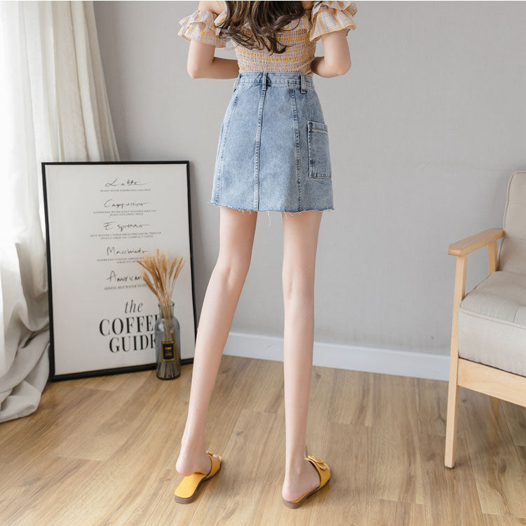 Denim skirt a-line skirt women dress