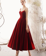 Simple sweetheart satin burgundy prom dress, burgundy evening dress