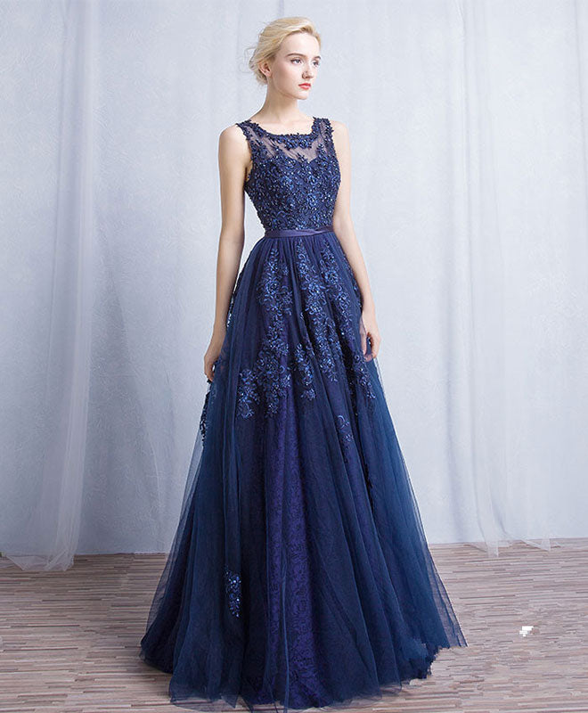 Blue Dress with Tulle