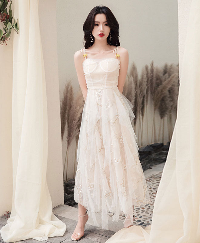 Simple sweetheart tulle prom dress, tulle evening dress