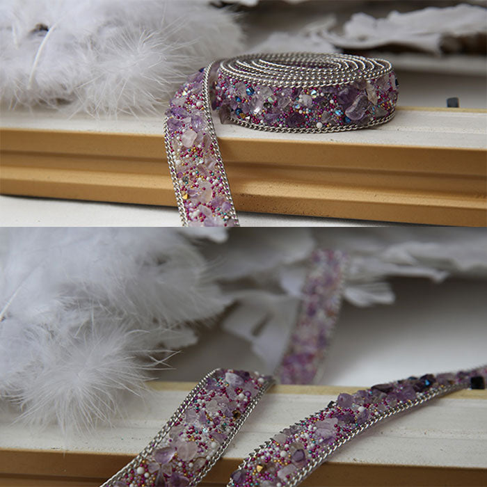 Purpler handmade diamond belt, fashion belt