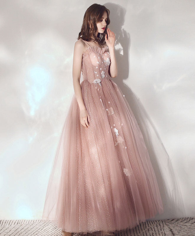 Pink sweetheart tulle prom dress pink tulle sweet 16 dress