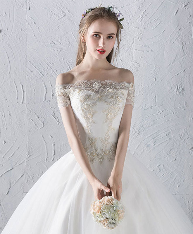 White Lace and Tulle Dress