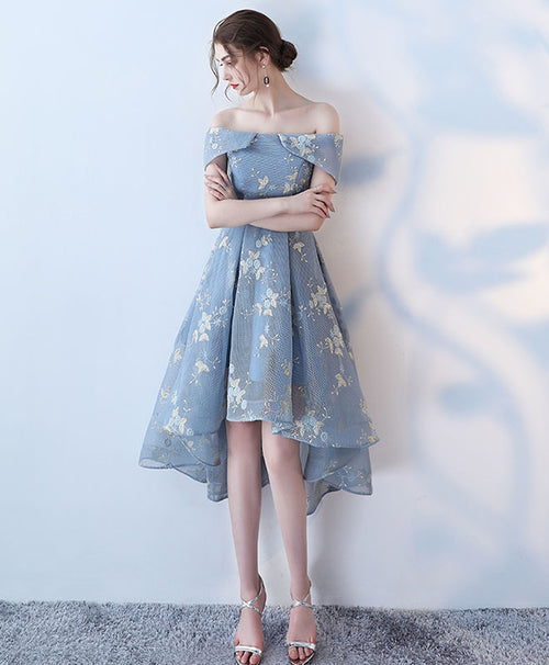 Unique gray short prom dress, gray homecoming dress