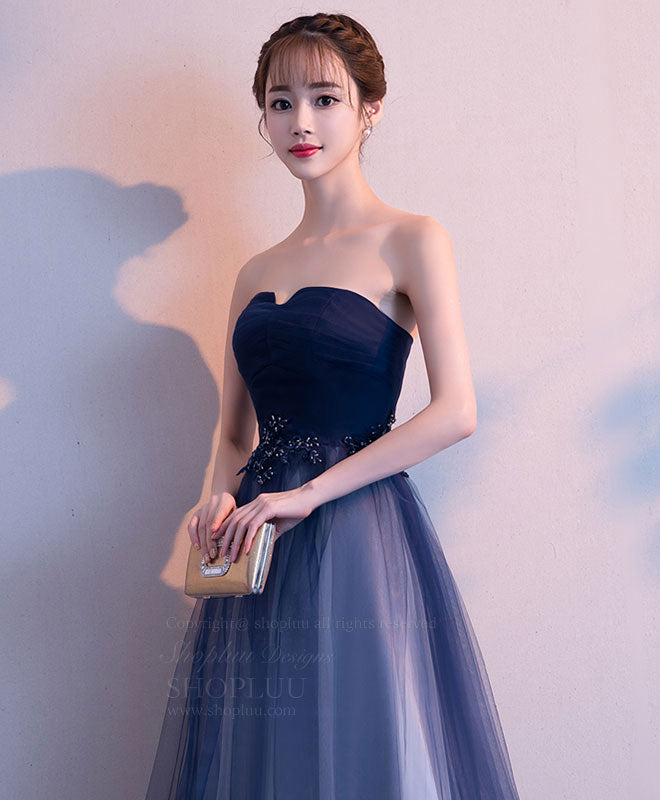 Simple tulle long prom dress, tulle bridesmaid dress
