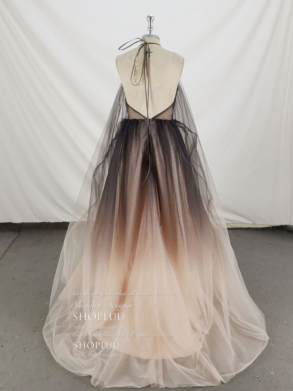 Unique v neck tulle long prom dress tulle formal dress