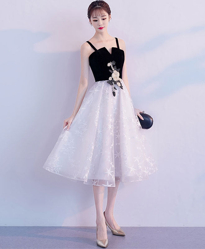 Cute tulle lace short prom dress, tulle homecoming dress
