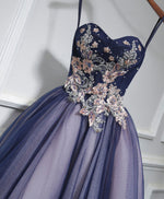Cute lace tulle short A line prom dress, homecoming dress