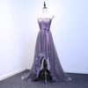 Pruple tulle sweetheart neck long prom dress, evening dress