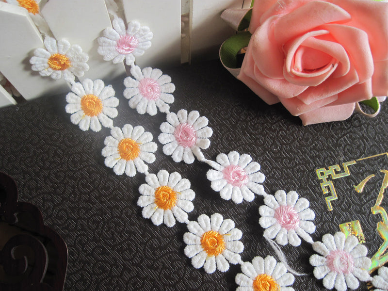 Cute flowers lace applique, DIY lace fabric