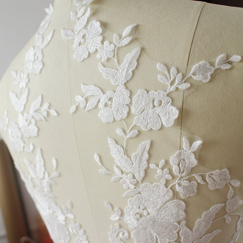 Handmade DIY lace applique, lace applique