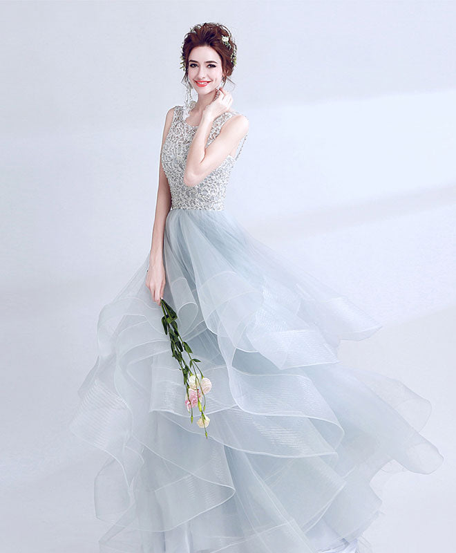 Amazing tulle lace long prom dress, formal dress