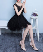 Cute tulle lace irregular short prom dress, homecoming dress