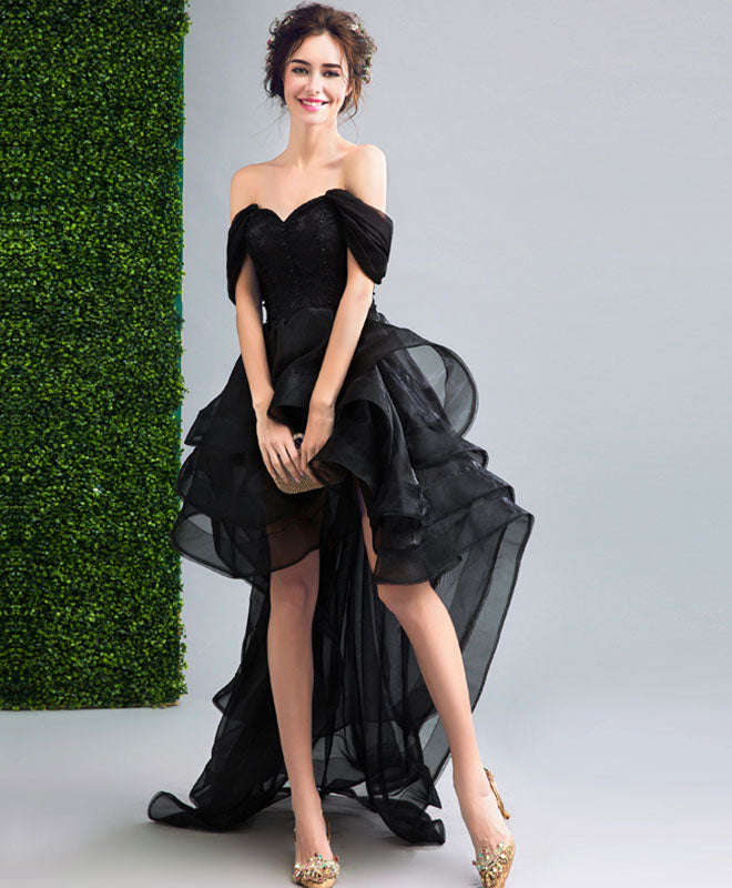 Black High Low Prom Dress Black Evening Dress Shop Elegant