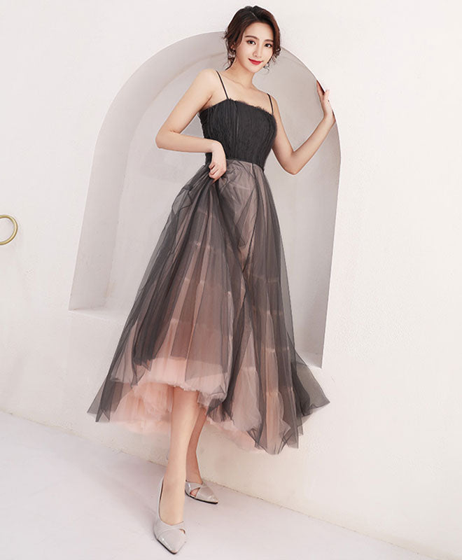 High quality black tulle short prom dress,  homecoming dress