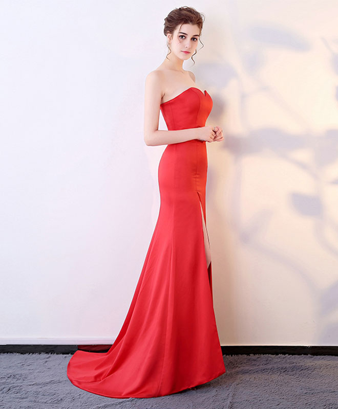 Mermaid sweetheart neck long prom dress, evening dress