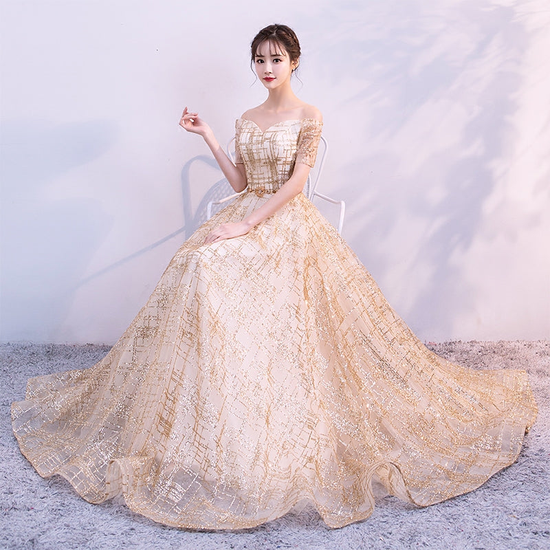 Beautiful tulle long prom dress, evening dress
