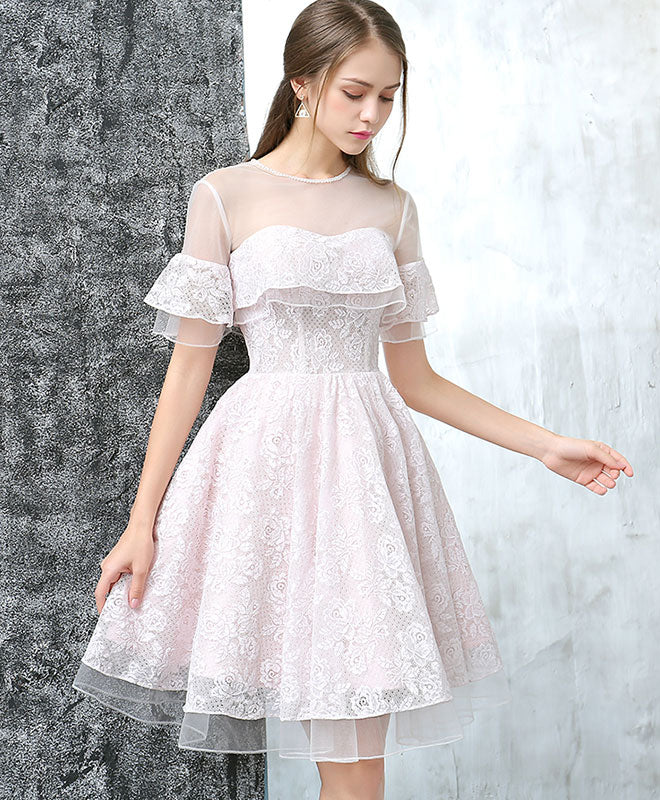 Cute Tulle Lace Short Prom Dress Homecoming Dress Shopluu