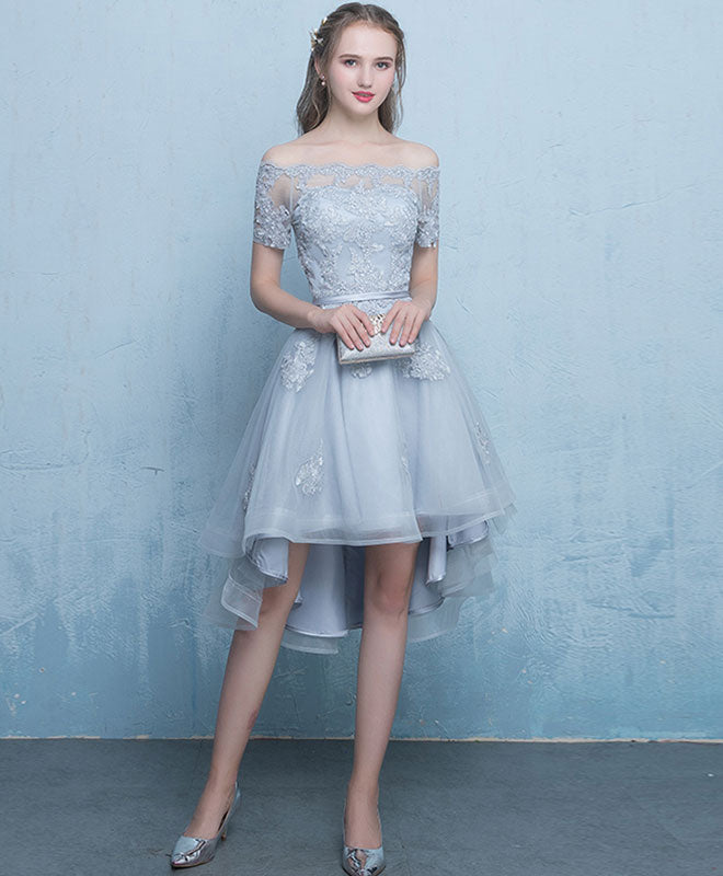 Short White Prom Dress with Tulle