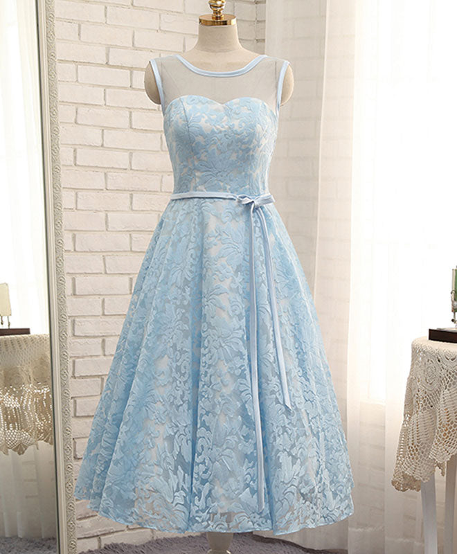 High quality  see through lace short prom dress, homecoming dress