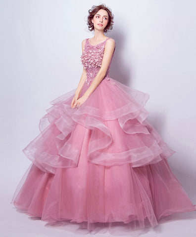 Pink tulle short prom dress, homecoming dress, cocktail dress