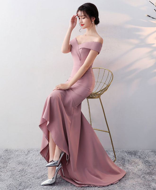 Simple v neck long prom dress, mermaid evening dress