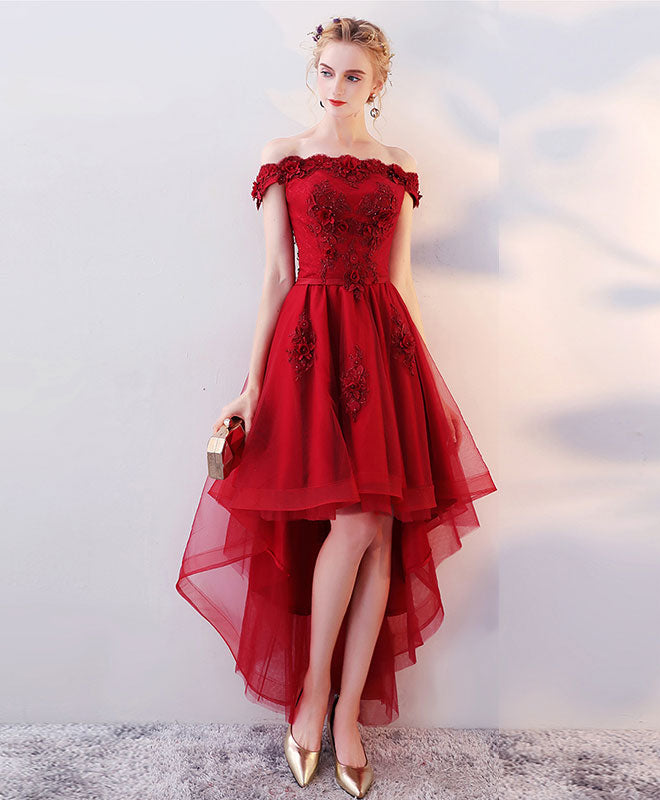Red Tulle with Lace Dresses