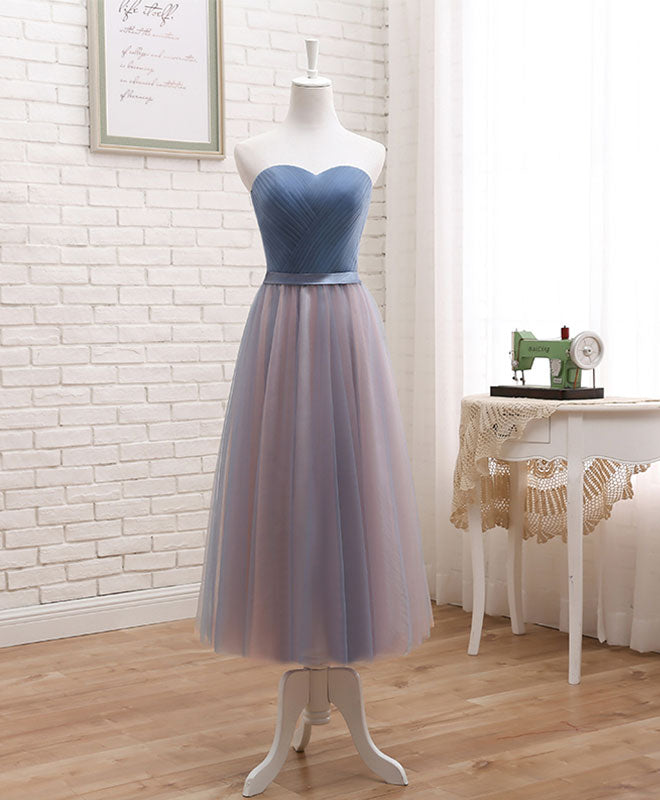 Cute tulle sweetheart neck prom dress, formal dress