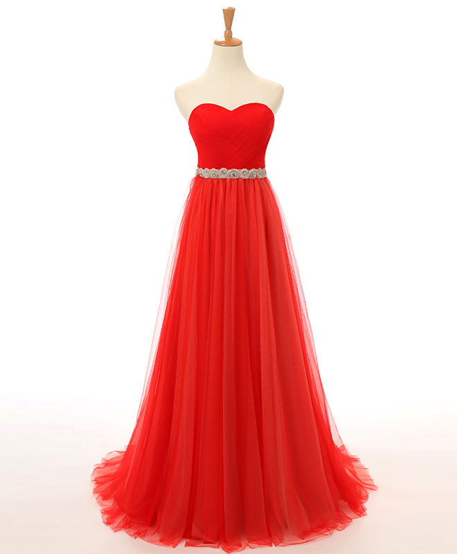 Custom made sweetheart neck long prom dress, cheap evening dress