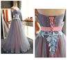 Sweetheart neck tulle long prom dress, evening dress