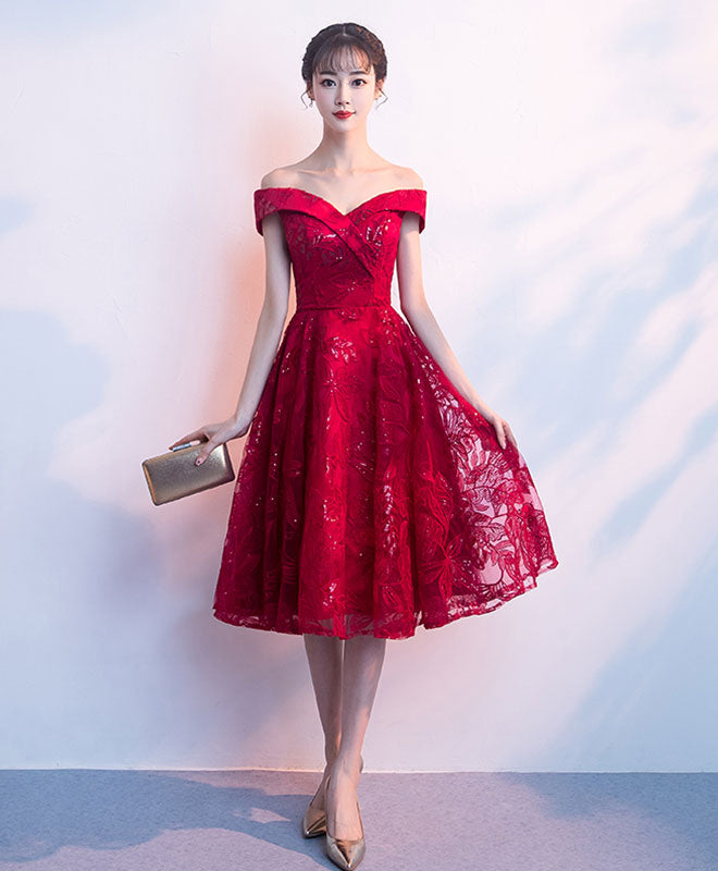how to find search for authentic how to get Cute burgundy short prom dress, homecoming dress