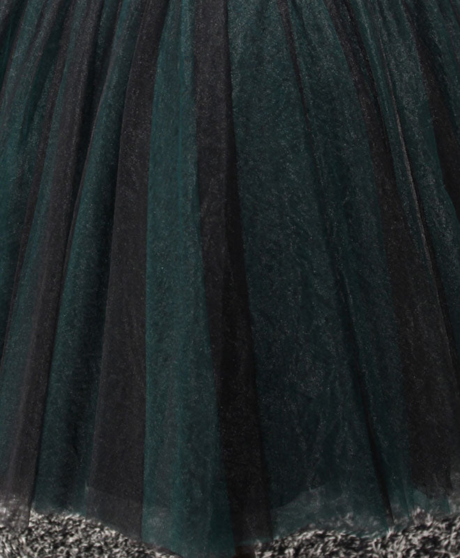 Stylish tulle lace short A line prom dress, formal dress