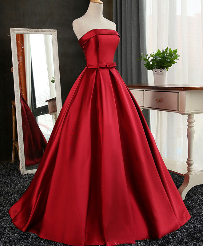 Amazing satin long prom gown, cheap evening dress
