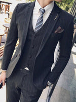 Simple striped suit, suit, graduation suit