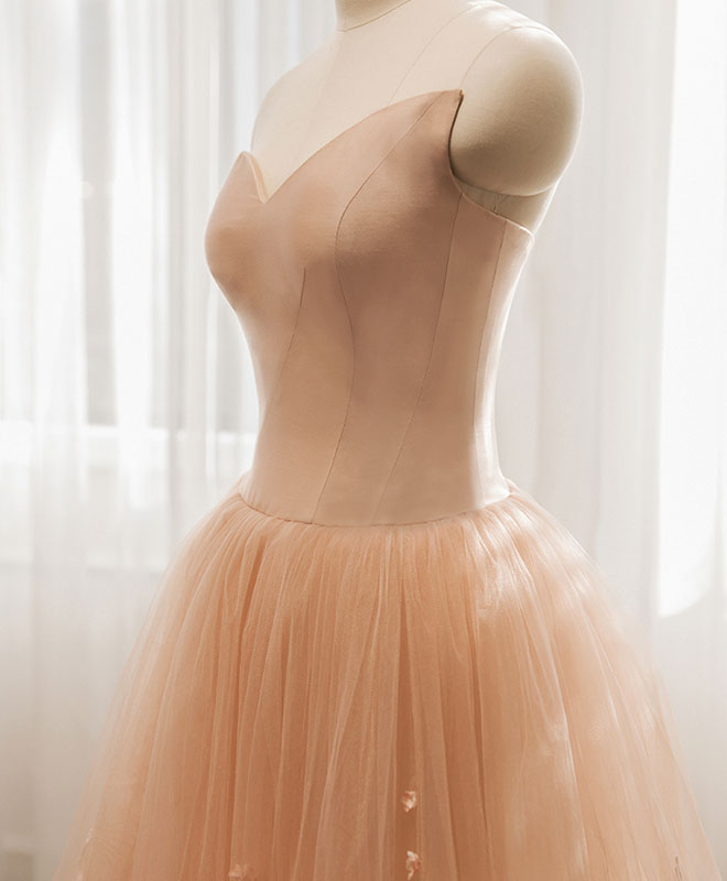 7250f67013e Stylish tulle ace long prom gown
