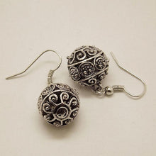 Tibetan Silver Hollow Ball Vintage Earring - Tusker Clothing