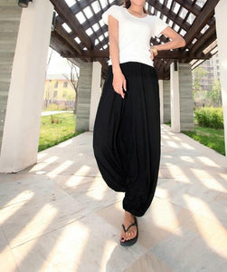 Garuda Asana Black Harem Pants - Tusker Clothing
