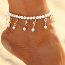 White Pearl Tassel Trendy Foot Jewelry Anklets - Tusker Clothing