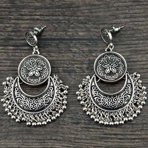 Moon Flower Antique Earring - Tusker Clothing